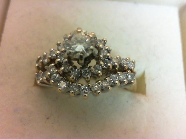 Lady's Diamond Wedding Set 31 Diamonds 1.23 Carat T.W. 14K Yellow Gold 5.54g