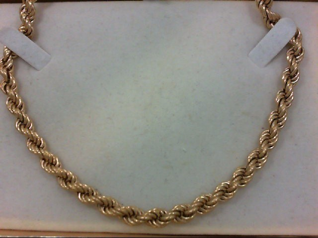 """24"""" Gold Rope Chain 14K Yellow Gold 44.3g"""
