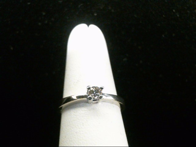 Lady's Diamond Engagement Ring .14 CT. 14K White Gold 3.1g Size:7