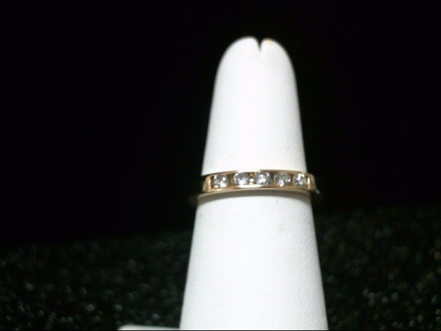 Lady's Diamond Wedding Band 5 Diamonds .25 Carat T.W. 10K Yellow Gold 3.8g