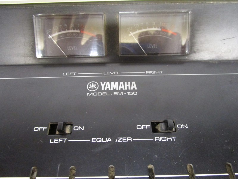 YAMAHA EM-150 6-CHANNEL MIXER, ONBOARD REVERB, FOR PARTS / NOT WORKING
