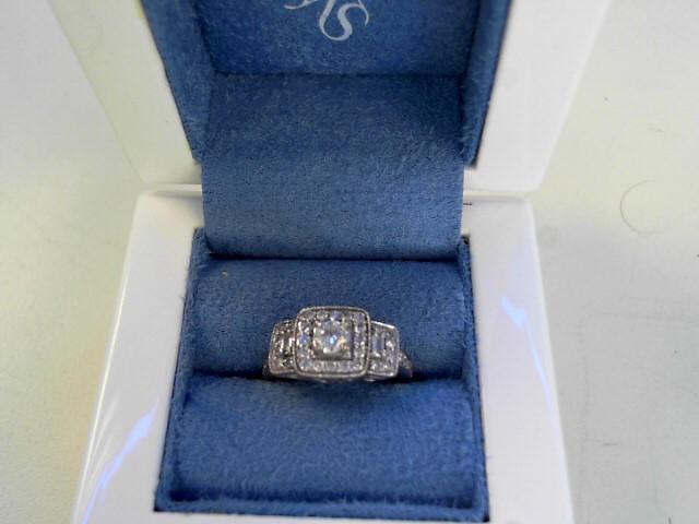 Lady's Diamond Cluster Ring 49 Diamonds 1.13 Carat T.W. 14K White Gold 3.1dwt