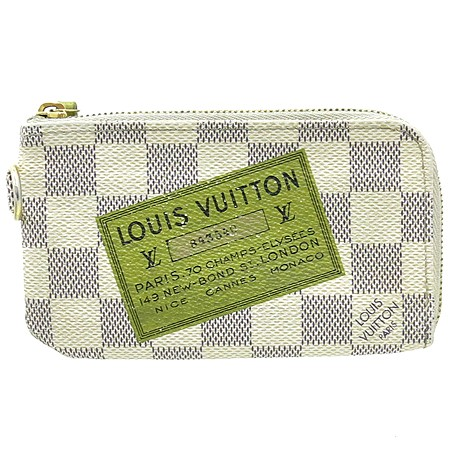 LOUIS VUITTON LIMITED EDITION DAMIER AZUR POCHETTE CLES KEY POUCH