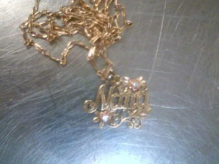 Gold-Multi-Diamond Pendant 2 Diamonds .02 Carat T.W. 10K 2 Tone Gold 0.9g