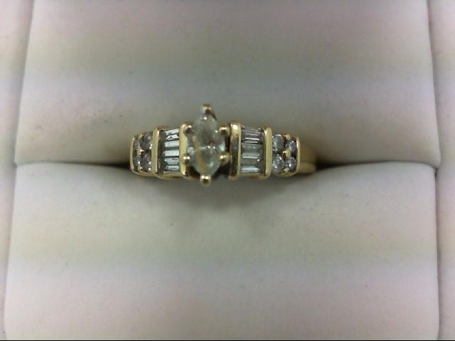 Lady's Diamond Engagement Ring 15 Diamonds 0.75 Carat T.W. 14K Yellow Gold 3.3g