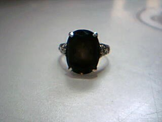 Brown Stone Lady's Silver & Stone Ring 925 Silver 4.2g