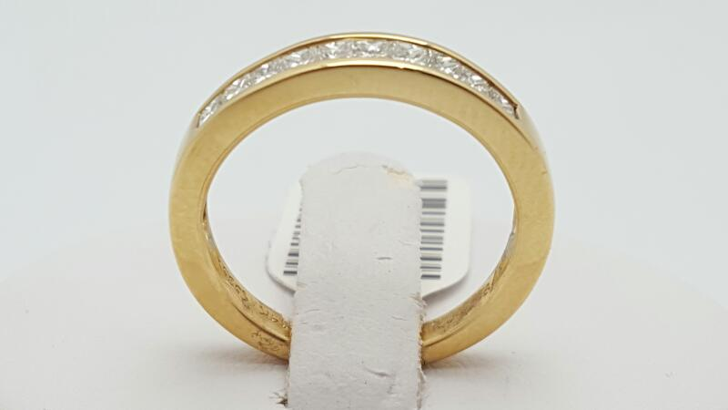 Lady's Gold-Diamond Anniversary Ring 10 Diamonds 0.5 Carat T.W. 14K Yellow Gold