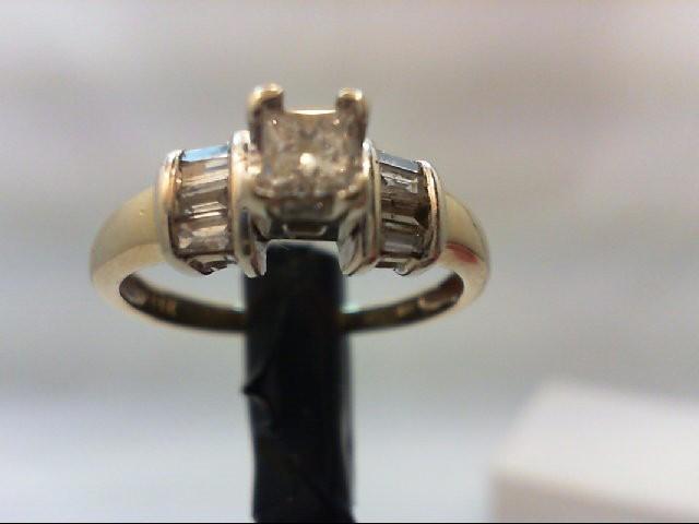 Lady's Diamond Engagement Ring 8 Diamonds 0.7 Carat T.W. 14K Yellow Gold 3.1g