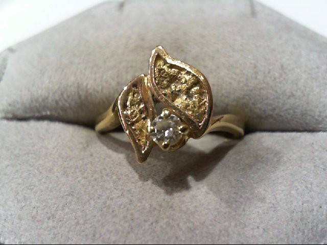 Lady's Diamond Fashion Ring .10 CT. 14K Yellow Gold 3.6g