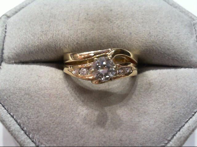 Lady's Diamond Wedding Set 7 Diamonds .68 Carat T.W. 14K Yellow Gold 5.2g