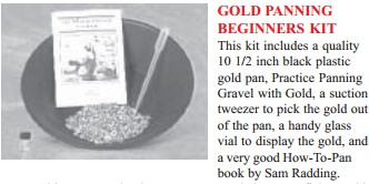 """JOBE 6158; PANNING KIT COMES WITH 10.5"""" GOLD PAN, INSTRUCTION BOOK, BAG OF CONC"""