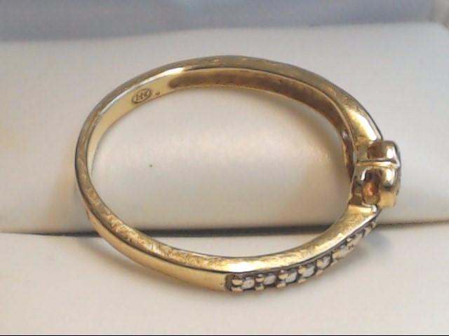 Lady's Diamond Fashion Ring 2 Diamonds .02 Carat T.W. 10K Yellow Gold 1.7g