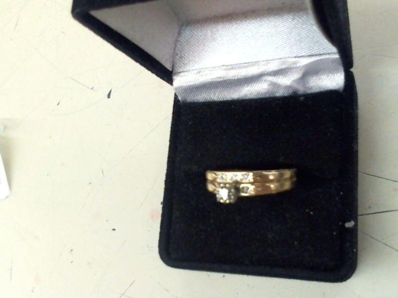 Lady's Diamond Wedding Set 6 Diamonds .10 Carat T.W. 10K Yellow Gold 3.1g