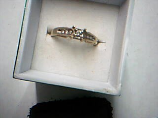 Lady's Diamond Engagement Ring .15 CT. 10K Yellow Gold 2.31g