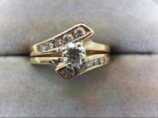 Lady's Diamond Wedding Set 11 Diamonds .53 Carat T.W. 14K Yellow Gold 4.7g