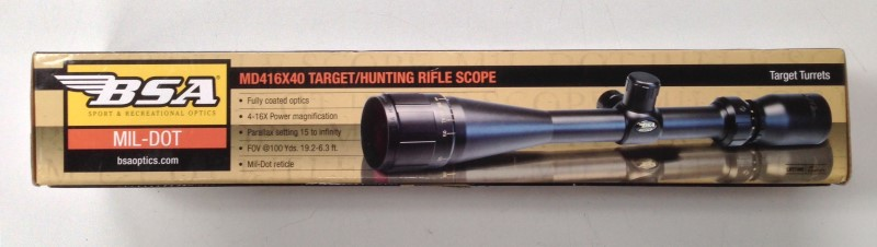 BSA OPTICS TARGET/HUNTING SCOPE MD416X40IR