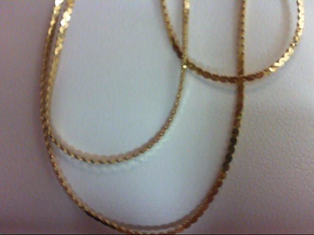Gold Serpentine Chain 14K Yellow Gold 1.8g