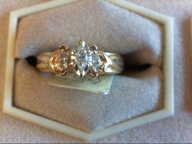 Lady's Diamond Engagement Ring 5 Diamonds .14 Carat T.W. 14K Yellow Gold 3.4g