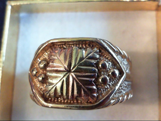 Gent's Gold Ring 10K 2 Tone Gold 8.7g Size:11