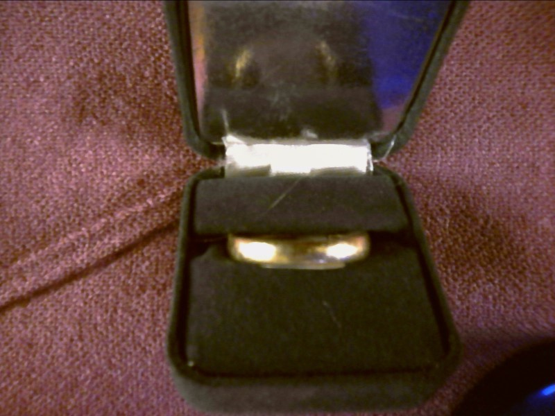 RING JEWELRY JEWELRY, 10KT, 2.71 DWT; GOLD BAND WITH COMFORT FITSIZE 9.5