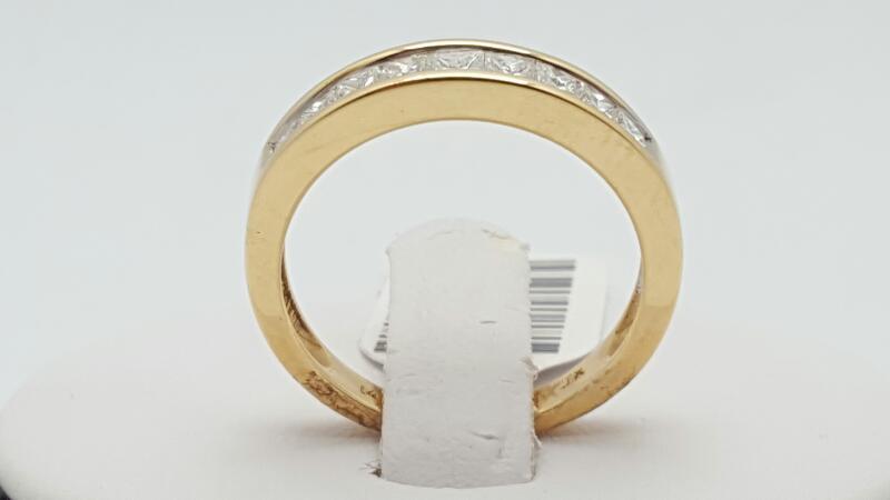 Lady's Gold-Diamond Anniversary Ring 9 Diamonds 0.75 Carat T.W. 14K Yellow Gold