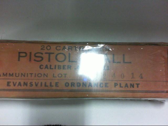 EVANSVILLE ORDNANCE PLANT Ammunition .45 M1911