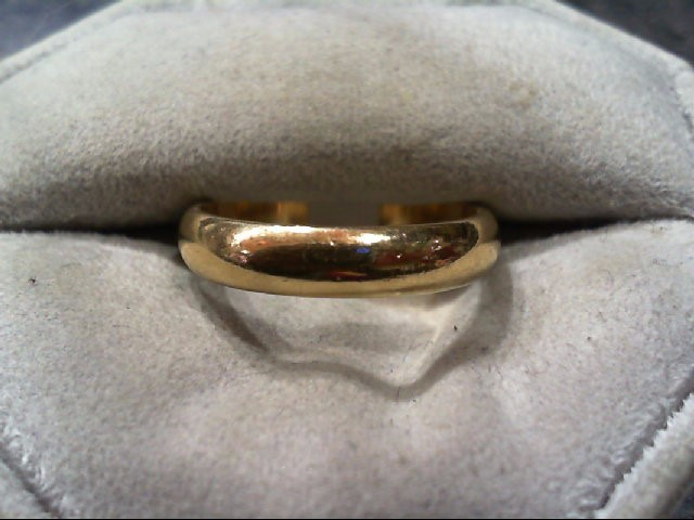 Lady's Gold Wedding Band 10K Yellow Gold 3.5g Size:8