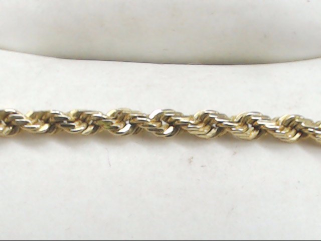"18"" Gold Rope Chain 14K Yellow Gold 8.5g"