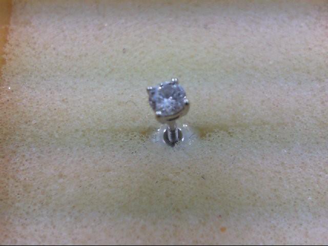 Gold-Diamond Earrings 0.12 CT. 14K White Gold 0.3g