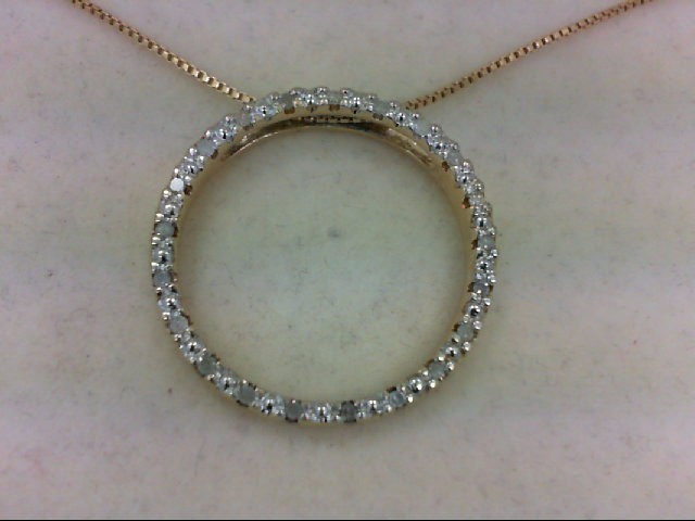 Silver-Diamond Pendant 20 Diamonds 0.2 Carat T.W. 925 Silver 5.8g