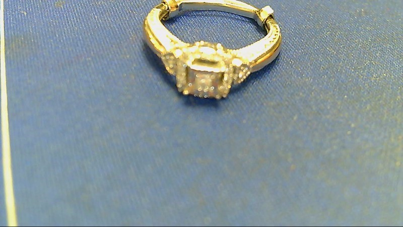 Lady's Diamond Engagement Ring 19 Diamonds .24 Carat T.W. 10K White Gold 3.6g