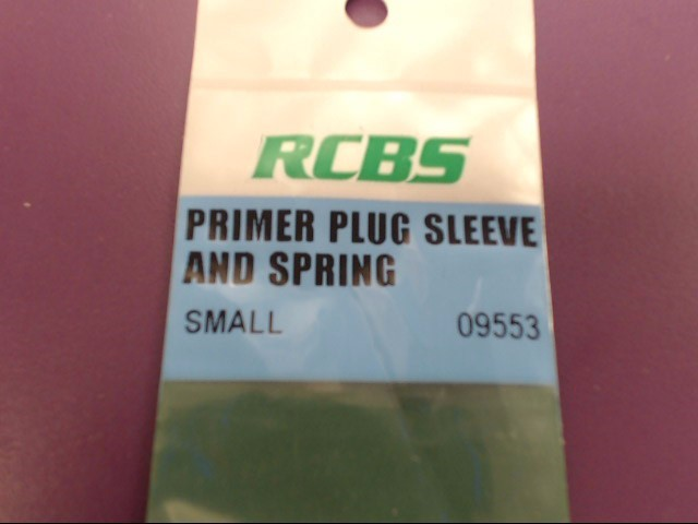 RCBS PRIMER PLUG SLEEVE AND SPRING 09553