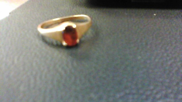 Almandite Garnet Lady's Stone Ring 10K Yellow Gold 1.2g
