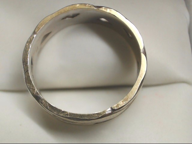 Gent's Gold Wedding Band 14K White Gold 5.1g Size:8.5