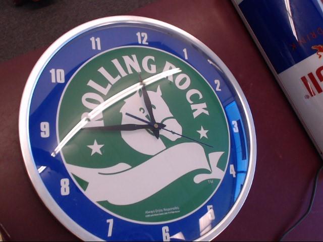 ROLLING ROCK WALL CLOCK