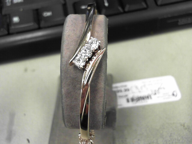 Gold-Diamond Bracelet 3 Diamonds .60 Carat T.W. 14K Rose Gold 12.5g