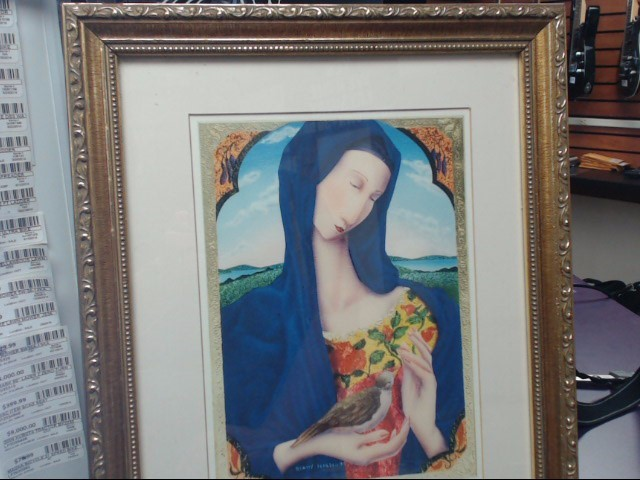 "Laura Beatty Limited Edition Framed & Matted Giclee Print ""Blue Madonna"""