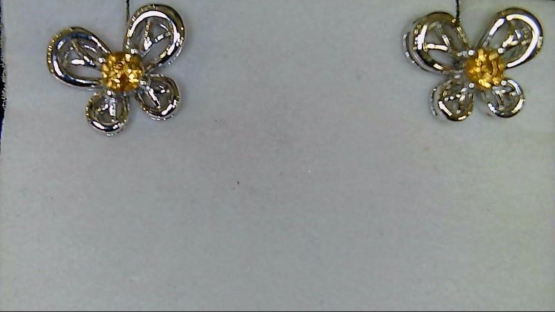 Butterfly November Birthstone Earrings 925 Silver