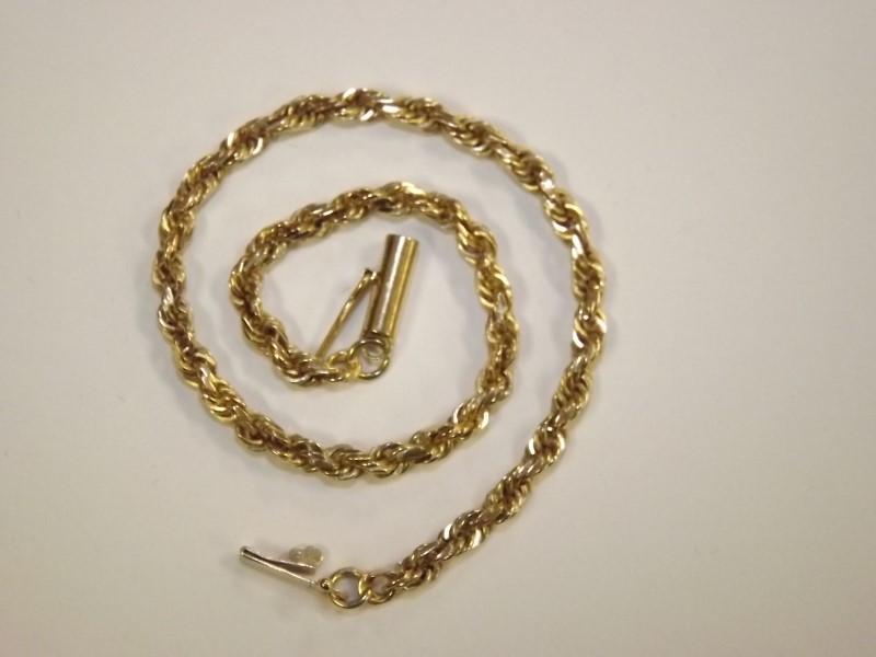 Gold Rope Bracelet 14K Yellow Gold 5.29g
