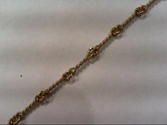 Gold Fashion Bracelet 14K Yellow Gold 3.5g