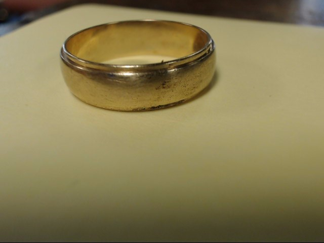 Gent's Gold Wedding Band 14K Yellow Gold 5g Size:9.5