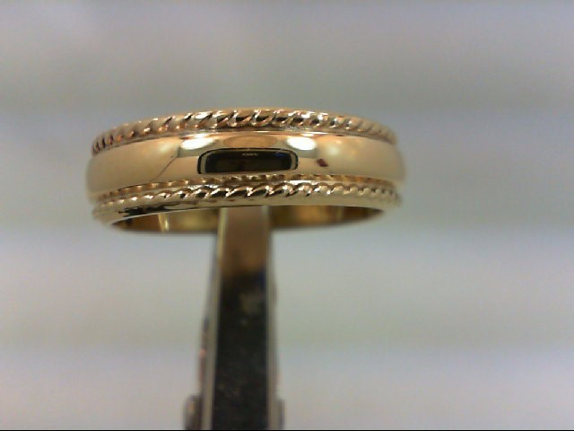 Lady's Gold Wedding Band 10K Yellow Gold 3.8g Size:6