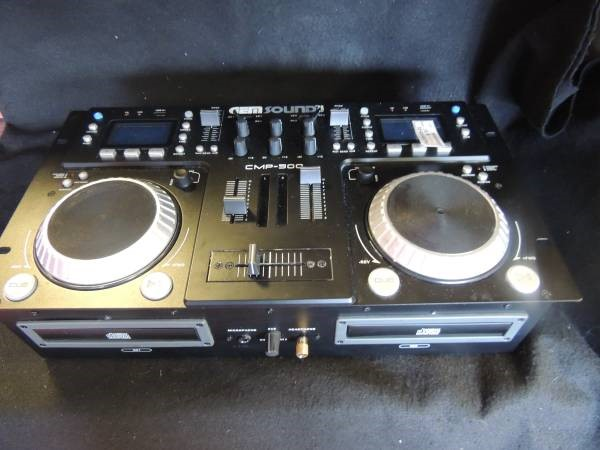 Gem Sound CMP-500 Dual-CD MP3 USB DJ Mixer Board