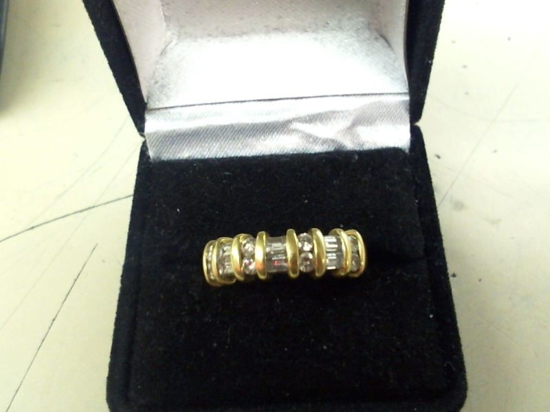 Lady's Diamond Fashion Ring 14 Diamonds .64 Carat T.W. 18K Yellow Gold 6.2g