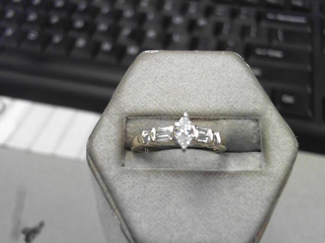 Lady's Diamond Engagement Ring 7 Diamonds .23 Carat T.W. 14K Yellow Gold 2.7g