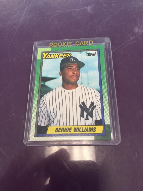 TOPPS 701 BERNIE WILLIAMS ROOKIE CARD