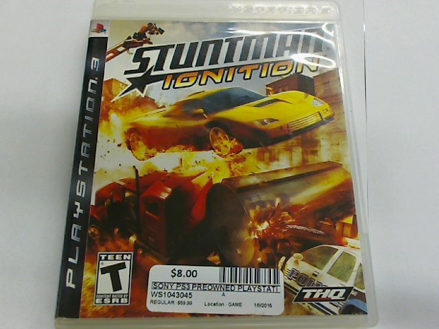 STUNTMAN IGNITION - PS3 GAME