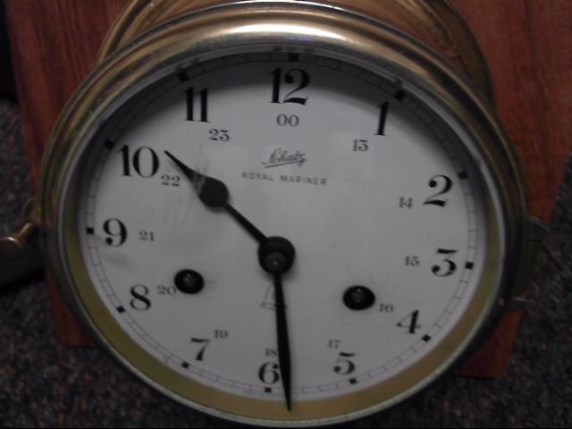 Shatz Mariner Antique Ship Clock Key Wind