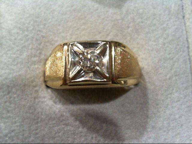 Gent's Diamond Fashion Ring .30 CT. 14K 2 Tone Gold 8.1g