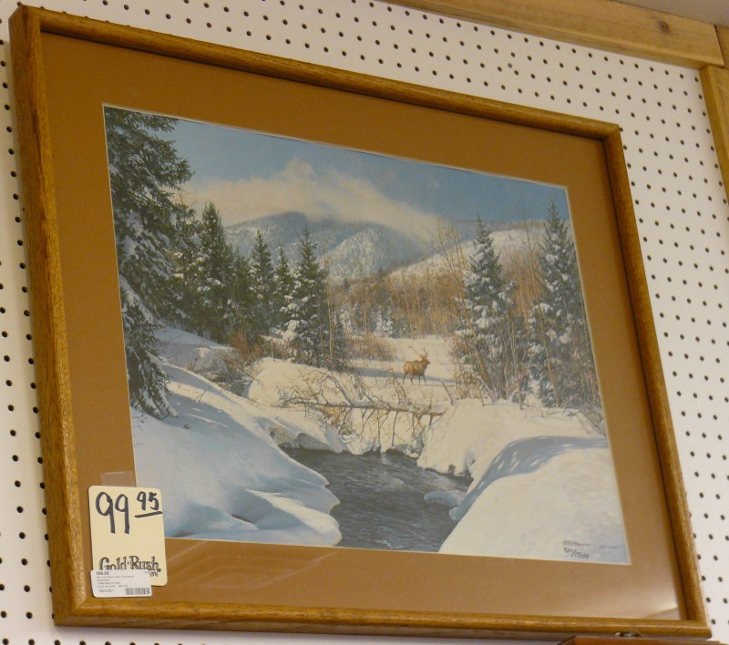 ART MISC USED MERCH MISC USED MERCH BOB WYGANT AFTER THE SNOW, #801/1500; FRAMED